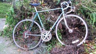 Cariées morrison vélo bleu à dix vitesses, sauf