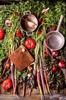 Carotte pourpre aux légumes