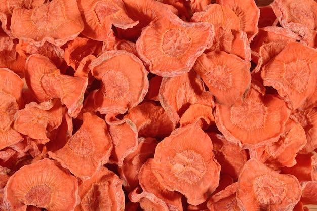 Carottes séchées comme texture de fond