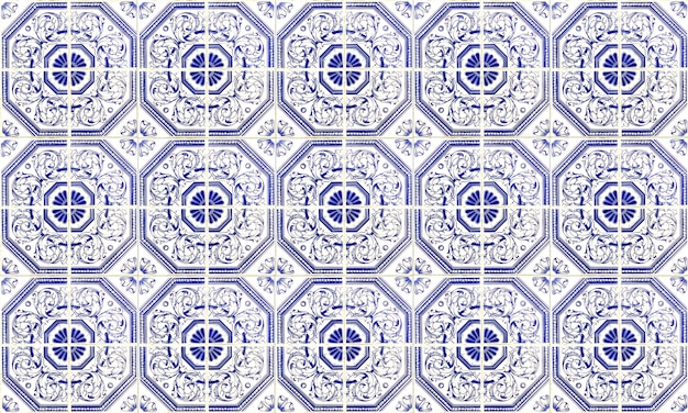 Carreau azulejo sans soudure portugal ou espagne. haute résolution.