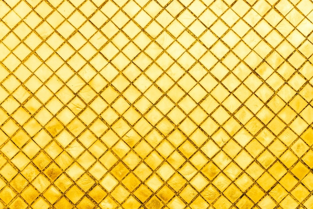 Carreau de mosaïque d'or
