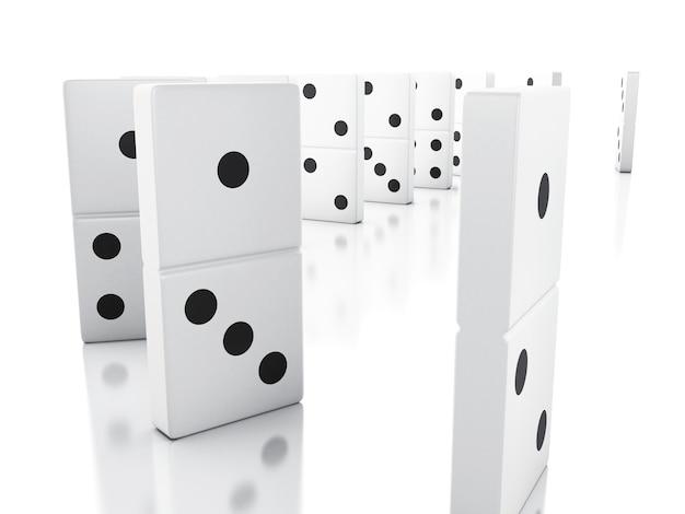 Carreaux 3d domino tombant d'affilée
