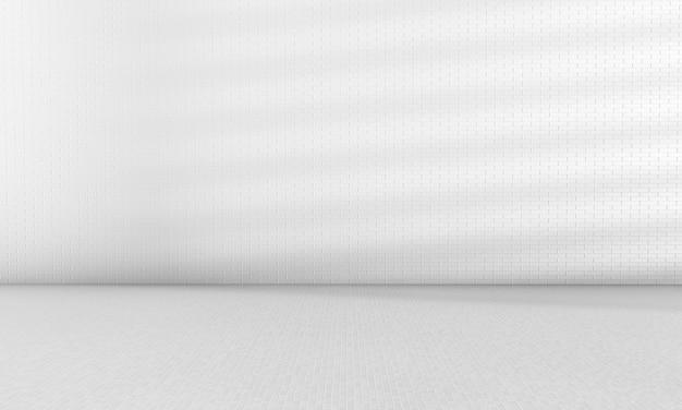 Carreaux blancs brillants sans soudure mur de briques texture de fond design d'intérieur de la maison ou rendu 3d
