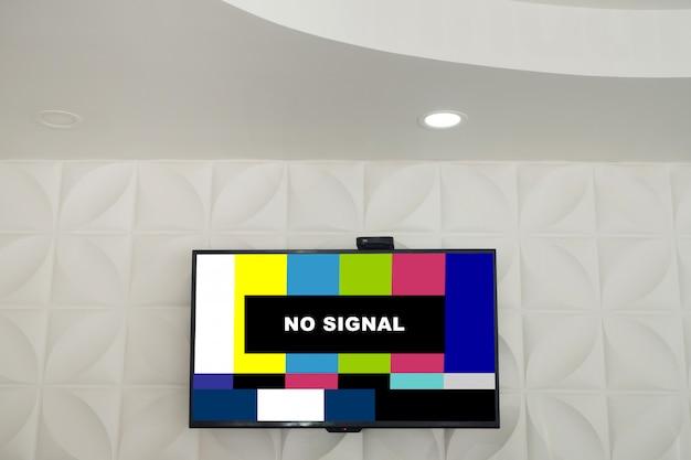 Carreaux carrés avec fleurs forme fond de texture sans signe de signal sur un éboulis de télévision