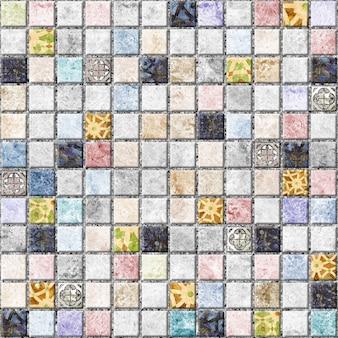 Carreaux décoratifs avec texture de pierre naturelle. mosaïque. texture de fond