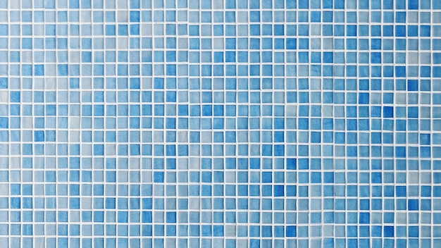 Carrelage bleu en céramique