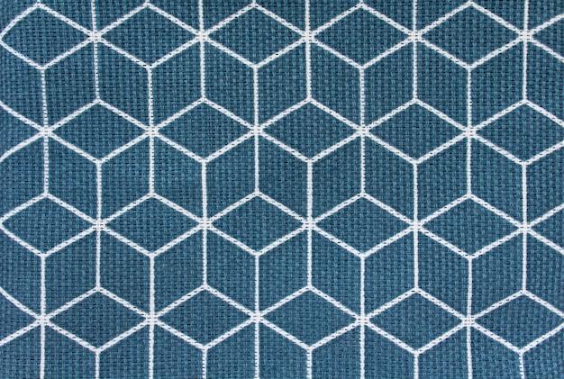 Carrés de tissu de fond bleu