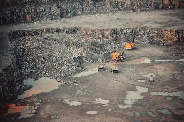 Carrière de granit d'extraction de machine