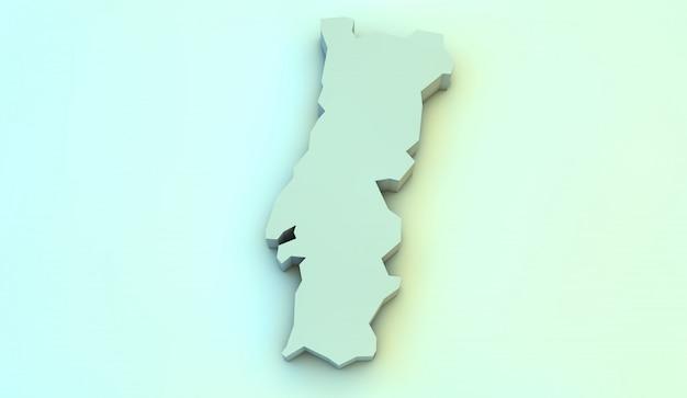 Carte 3d du portugal