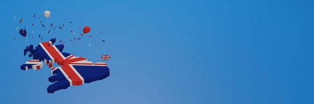 Carte de l'angleterre pour les médias sociaux et la couverture d'arrière-plan du site web pour célébrer la journée nationale du shopping et la fête de l'indépendance nationale
