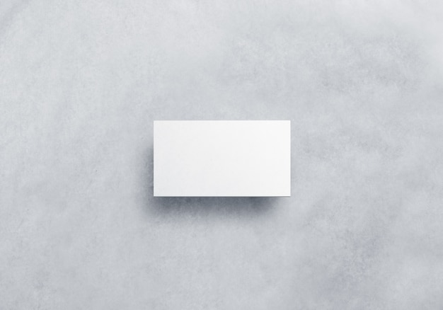 Carte d'appel blanche vierge