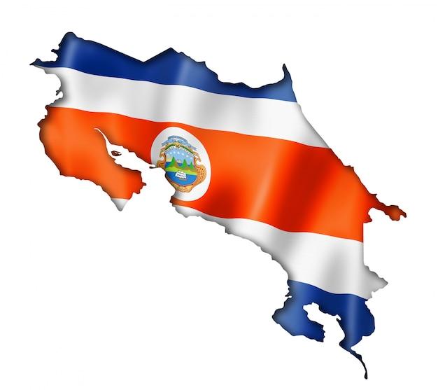 Carte du drapeau costaricien