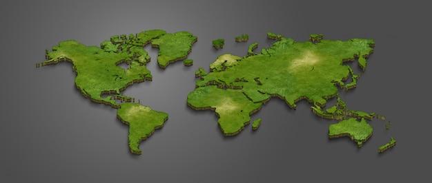 Carte du monde 3d