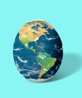 Carte du monde des œufs