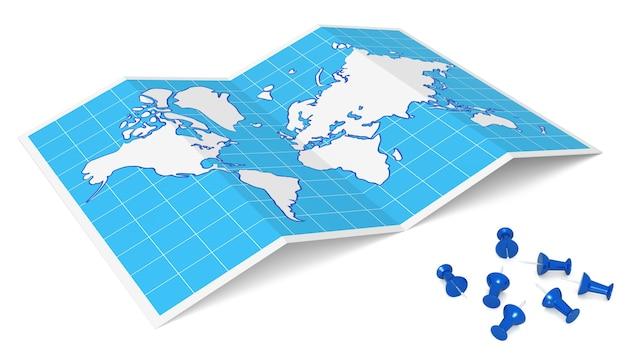 Carte du monde avec des punaises source map httpwwwlibutexasedumapsworldhtml