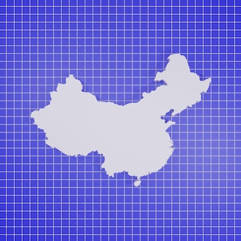 Carte du rendu de la chine