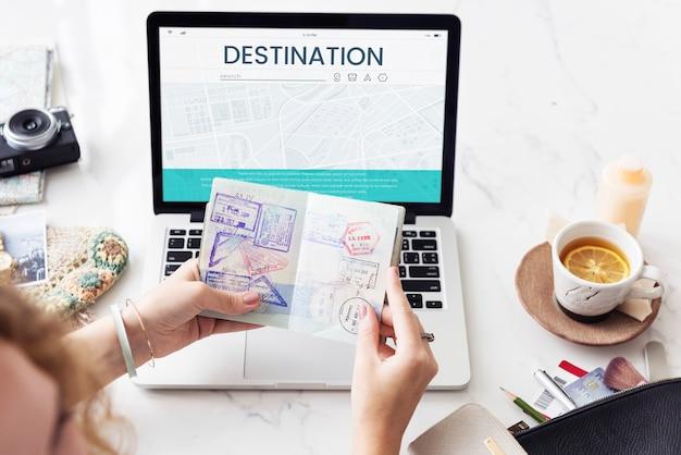 Carte gps direction navigation route voyage