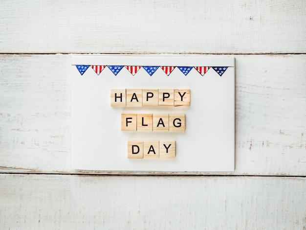 Carte avec un motif du drapeau américain
