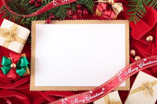 Carte de noël blank ou invitation
