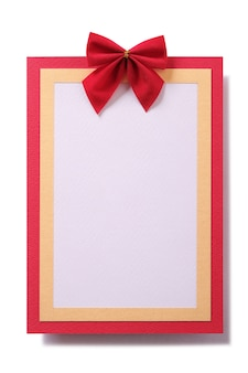Carte de noël cadre rouge vertical