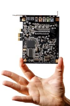Carte pci express pour ordinateur en main, puce audio 7.1