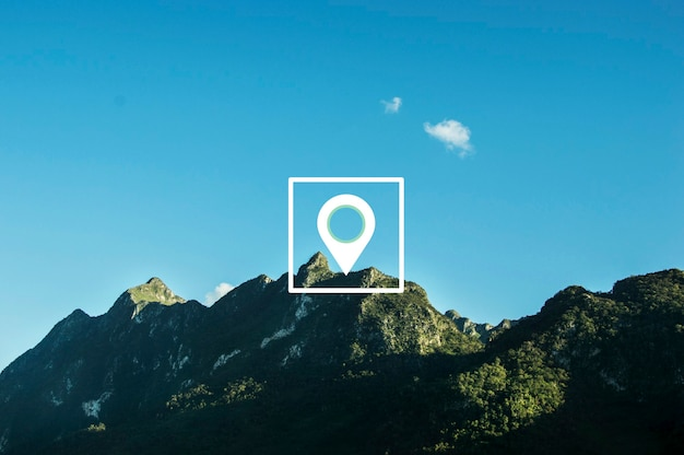 Carte pin emplacement direction position graphique