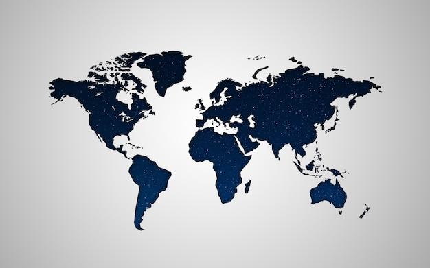 Carte de la planète terre avec une belle texture cosmique