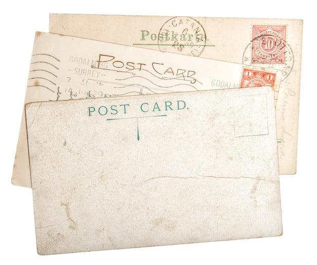 Carte postale ancienne en carton de courrier avec bords. texture de papier usagé