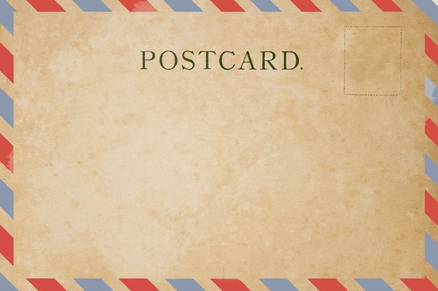 Carte postale vierge de la poste aérienne.