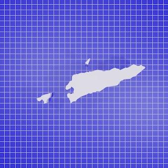 Carte de rendu 3d au timor oriental ou au timor-leste
