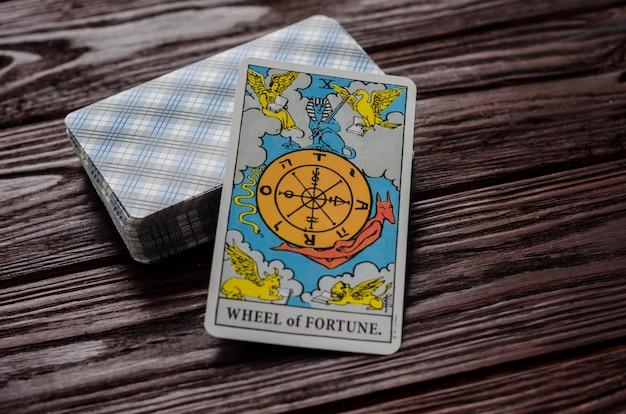 Carte de tarot: roue de la fortune