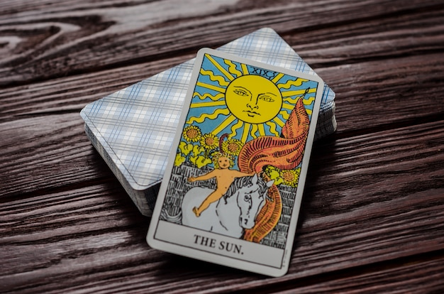 Carte de tarot: le soleil
