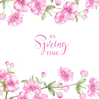 Carte de temps de printemps.