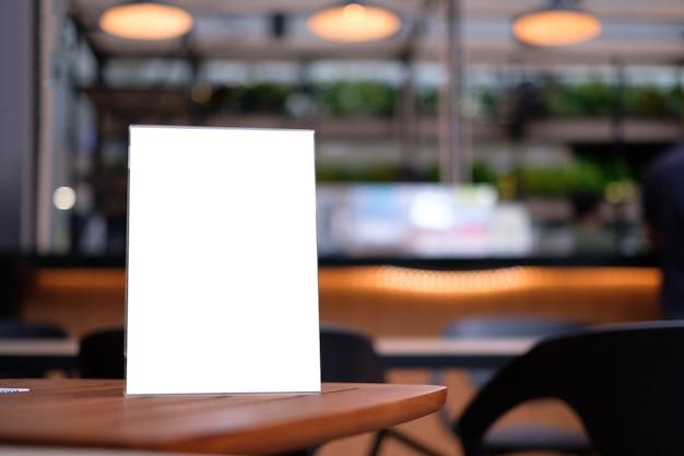 Carte de tente de cadre de menu de support disposition visuelle clé de conception floue.