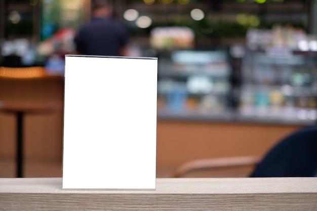 Carte de tente de cadre de menu de support floue de conception d'arrière-plan mise en page visuelle clé.
