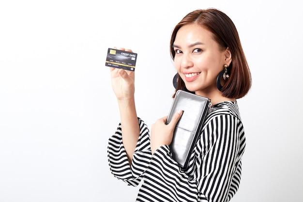 Carte de tenue de femme asiatique