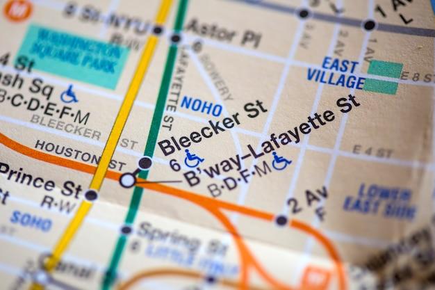 Carte de la ville de new york