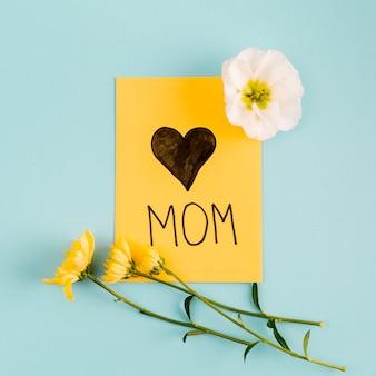 Carte de vœux avec bouquet de fleurs