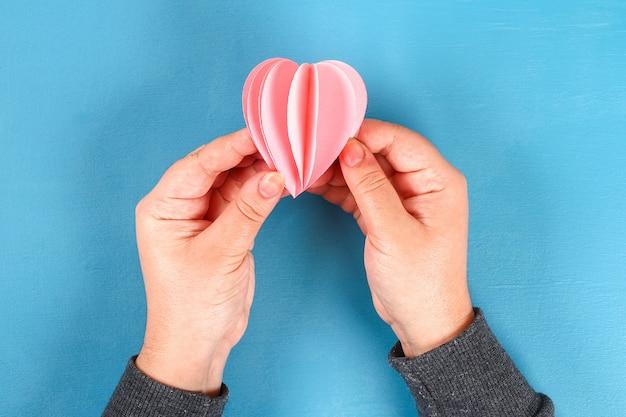 Carte de vœux bricolage pour la saint-valentin le 14 février