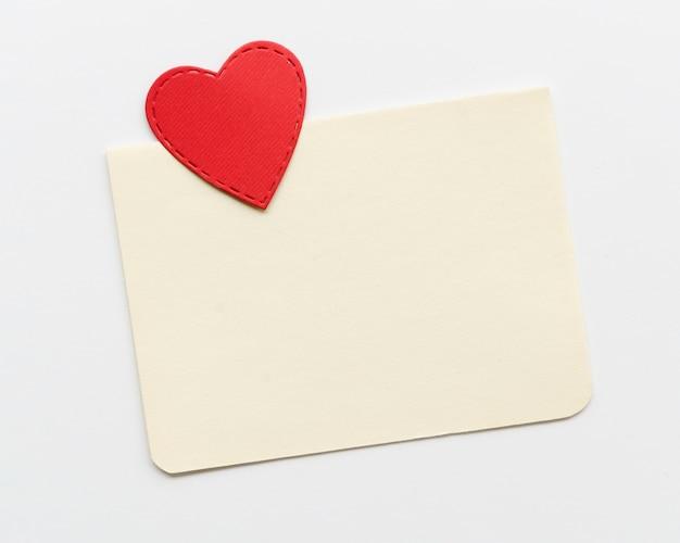 Carte de voeux avec coeur