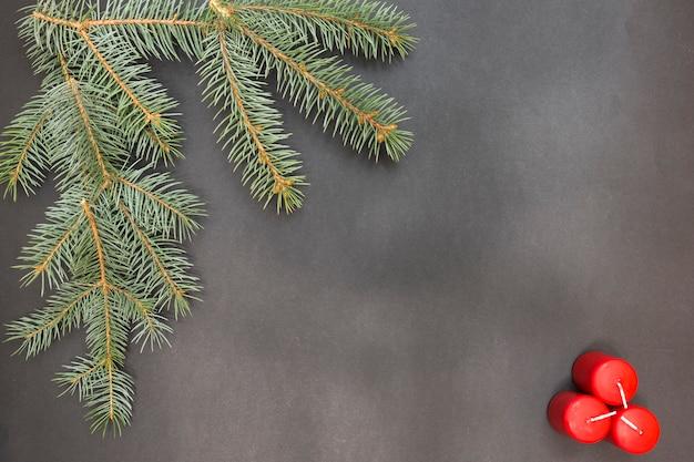 Carte de voeux avec décoration fête joyeux noël et bonne année