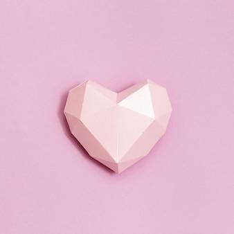 Carte de voeux ou invitation de couleur rose coeur papier volumétrique pour cartes de mariage ou saint valentin