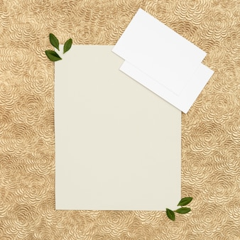 Carte de voeux de mariage laïque plat avec espace de copie