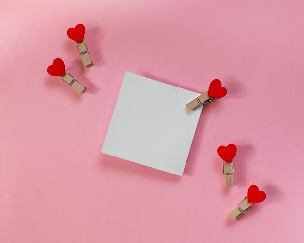 Carte de voeux de vacances pour la saint-valentin, le 14 février, pour une déclaration d'amour