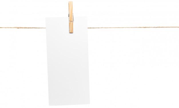 Cartes sur corde, espace copie