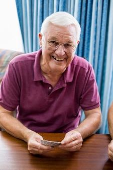 Cartes à jouer homme senior