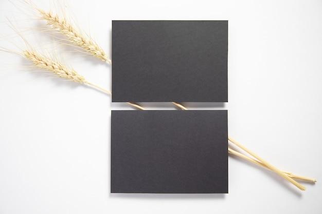 Cartes de visite avec épis de blé