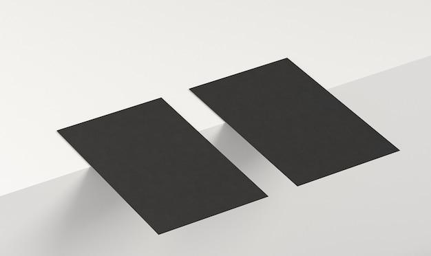 Cartes de visite noires pour espace copie haute vue