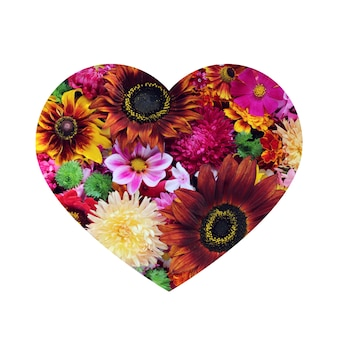 Cartes de vœux design en forme de coeur