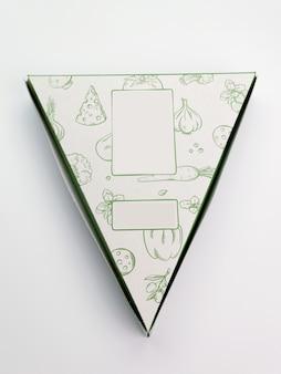 Carton à pizza triangulaire